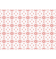 background texture red ethnic embroidery on a vector image