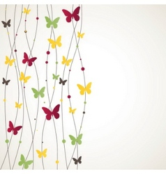 Background with butterfly vector illustration vector
