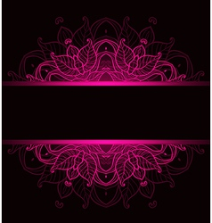 Background with pink ornament vector