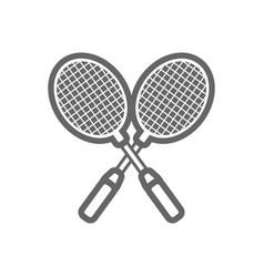 badminton racket outline icon summer vacation vector image