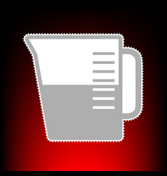 beaker style on vector image