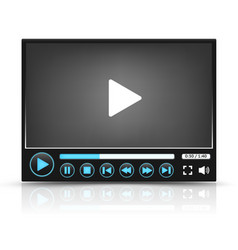 Black video player interface vector