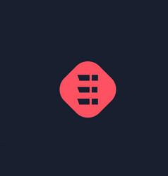 blue e pink icon alphabet letter logo shape vector image