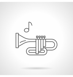 Brass wind tune flat line icon vector image