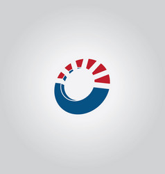 circle 3d logo vector image