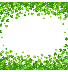Clovers frame isolated vector