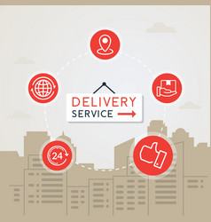 concept of fast delivery service vector image