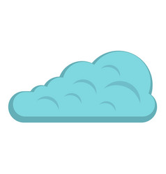 Cumulus cloud icon isolated vector