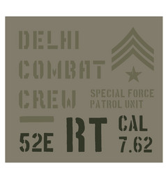 Delhi military plate design vector
