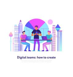 Digital teams design vector