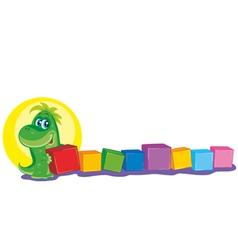 dinosaur play vector image