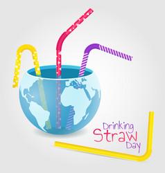 Drinking straw vector