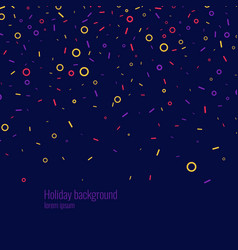festive abstract background with confetti vector image