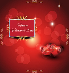festive greeting card valentines day vector image