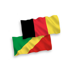 Flags belgium and republic congo vector