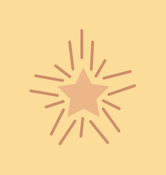 flat icon on stylish background poker star vector image