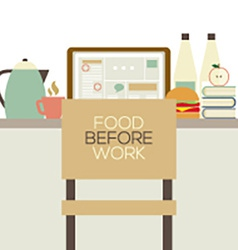 Food On The Table For Worker Health Concept vector