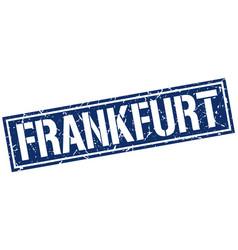 Frankfurt blue square stamp vector