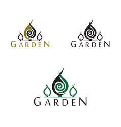 garden logo vector image