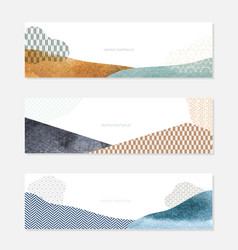 Geometric background with watercolor texture vector
