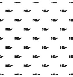 give hand pattern seamless vector image