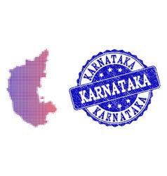 Halftone gradient map of karnataka state and vector