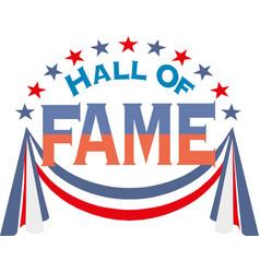 Hall fame badge frame flat vector