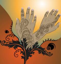 henna vector image