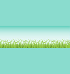horizontal seamless grass pattern vector image