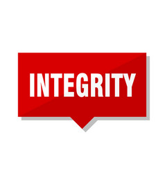 Integrity red tag vector