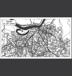 Jambi indonesia city map in black and white color vector