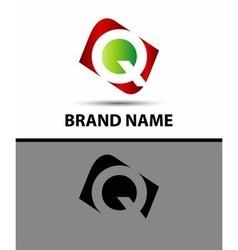 Letter q elegant alphabet symbol vector