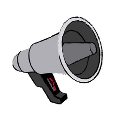 Megaphone loudspeaker advertising marketing icon vector