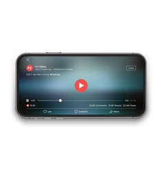 Mobile video player ui concept vector