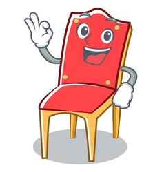 Okay chair character cartoon collection vector