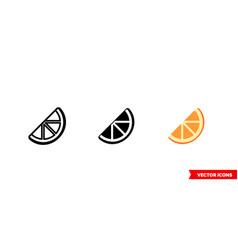 orange slice icon 3 types isolated sign vector image