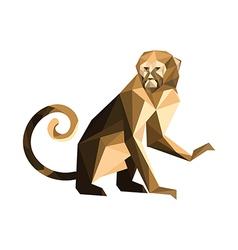 Origami monkey vector image