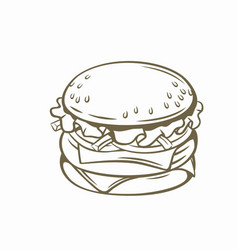 Outline burger vector