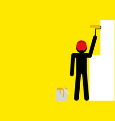 Painting wall yellow vector
