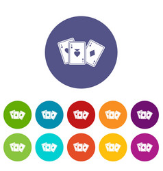 playing cards set icons vector image