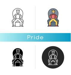 Pride icon vector