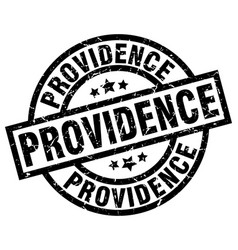 Providence black round grunge stamp vector