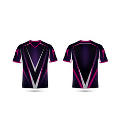 Purple pink and black layout e-sport t-shirt vector