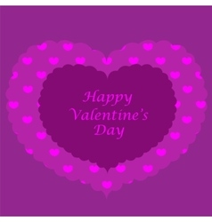 Purple valentine card seamless pattern vector
