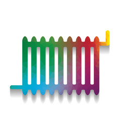 radiator sign colorful icon with bright vector image