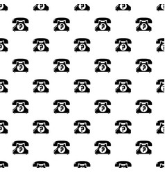 retro phone pattern seamless vector image