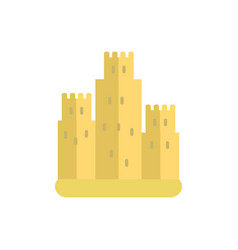 Sand castle icon on white isolated background vector