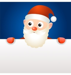 Santa Claus holding blank page vector