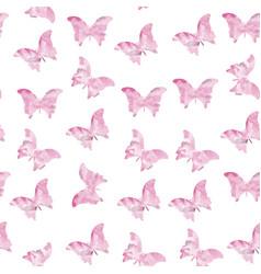 Seamless watercolor butterflies pattern vector