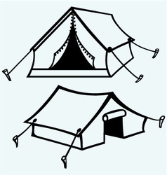 Set of canvas tents vector image